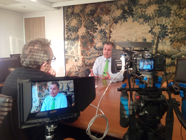 Newspack - Tournage vidéo interview