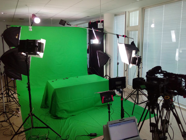 Newspack - Tournage sur ecran vert chromakey